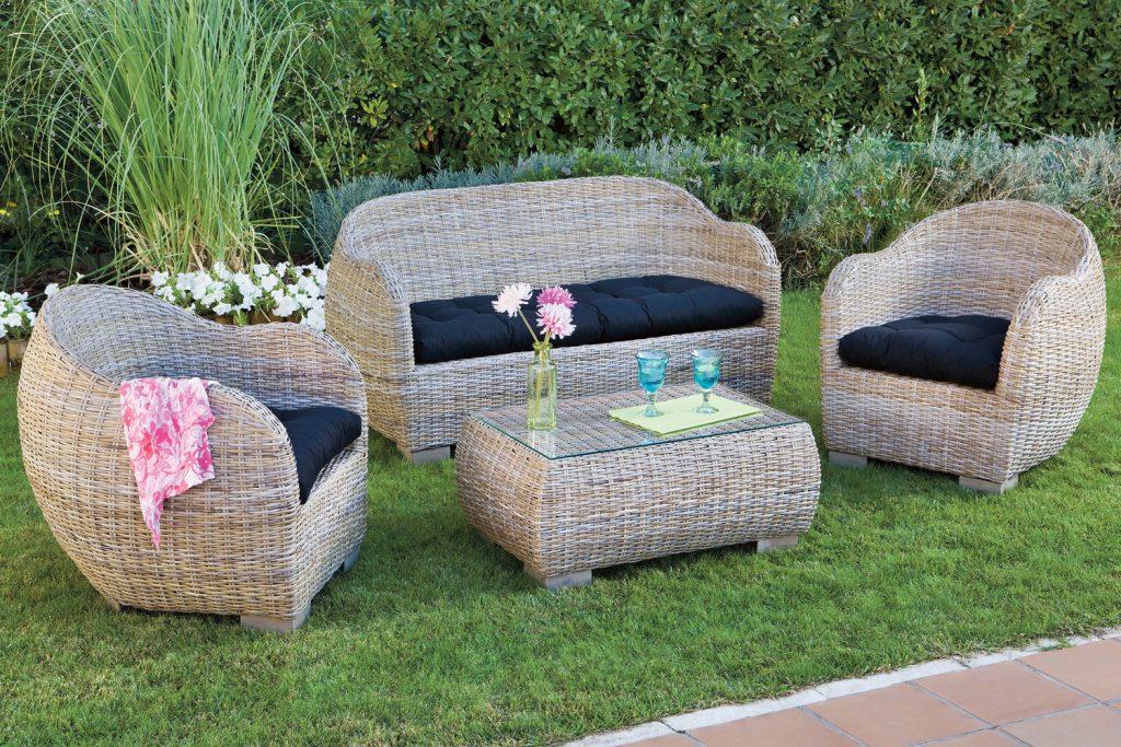 asientos jardin