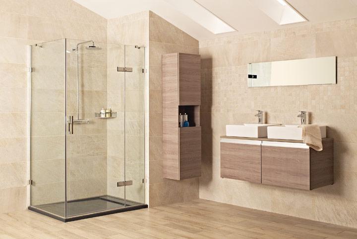 ducha linda en el baño